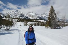 Lisa snowshoeing 2 (Aggiewelshes) Tags: travel winter snow lisa april snowshoeing wyoming jacksonhole grandtetonnationalpark 2016 gtnp taggartlaketrail