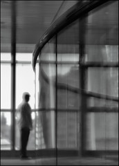 F_DSC0945-BW-2-Nikon D800E-Nikkor 28-300mm-May Lee  (May-margy) Tags: portrait bw blur glass metal wall frames bokeh doubleexposure taiwan  metropolitan           repofchina   newtaipeicity nikkor28300mm nikond800e maylee  mylensandmyimagination streetviewphotographytaiwan   naturalcoincidencethrumylens  linesformandlightandshadows  fdsc0945bw2