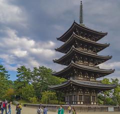 Kfuku-ji (.MiguelPU) Tags: sky japan azul temple pagoda cielo nara templo japn  kfukuji