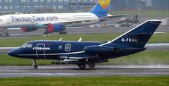 G-FRAU  PIK 18.4.2016 (Mike stanners) Tags: airport aviation cobham pik bizjet falcon20