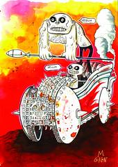 MAD MAX FURY DRAW - Massimo Giacon (Sugarpulp) Tags: comics tribute fumetti madmax illustrazione sugarcon sugarpulp sugarpulpconvention