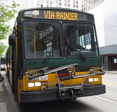 King County Metro Breda Trolley 4257 (zargoman) Tags: seattle county travel bus electric king metro trolley transportation transit converted breda articulated kiepe elektrik kingcountymetro highfloor