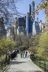 NYC April 2016 (LMJones Photo) Tags: 20160413nyc newyork nyc travel urban city spring 0044a centralpark architecture outdoors outside april 2016firstvisit tourist canont3i path people walk bridge essexhouse newyorkcity april2016 firstvisit