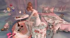"After Work ~ (LaDonna Oceanlane - ""Lala"") Tags: pets bedroom mandala pillows secondlife decor yumyum foxes quirky jian epiphany sweetthing gacha barberyumyum kustom9 neonspiderfoot ladonnaoceanlane stripedmocha sanarae giftoftheguardians"