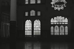 scan0017 (maculatefoto) Tags: old windows bw building tower film window analog zeiss blackwhite ancient kodak empty room carl m42 plus haunting pan zenit manual galata kodak100 carlzeissjena pancolar zenit12xps