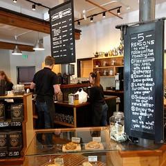 Busy making yummy drinks ... #coffeeshop #coffee #latte #espresso #dripcoffee #siphoncoffee #frenchpress #coffeebean(s) #Ashland #Oregon #chalkboard (Heath & the B.L.T. boys) Tags: coffee oregon antique chalkboard instagram
