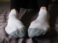 White and Grey Ankle Socks (sockstargirl) Tags: feet socks footfetish sexyfeet femalefeet sexysocks sockfetish