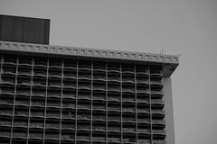 DSCF2530 (jhnmccrmck) Tags: blackandwhite tourism hawaii hotel twilight waikiki oahu dusk balconies fujifilm honolulu crepuscular xt1