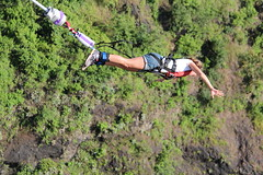 Bungy Jumping 111metres off the bridge above the Zambezi River (little_duckie) Tags: africa zimbabwe bungy bungee zambezi bungyjump zambeziriver 111metres