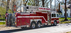 Truck 221 right view - Cleveland Heights Fire Department (Tim Evanson) Tags: hydrant firetruck firedepartment laddertruck clevelandheightsohio clevelandheightsfiredepartment