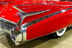 Tail Fins - 1959 Cadillac Convertible (Frank's Focus) Tags: travel oklahoma events convertible cadillac eldorado transportation tulsa automobiles 1959 2015 carshows leakeautoauction