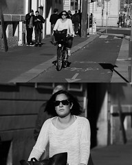 [La Mia Citt][Pedala] (Urca) Tags: portrait blackandwhite bw bike bicycle italia milano bn ciclista biancoenero mir bicicletta 2015 pedalare dittico 82266 nikondigitale ritrattostradale
