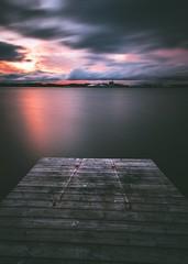"""Change is inevitable- "" (Magnus Eriksson75) Tags: longexposure sunset nature water landscape evening moody sweden samsung sverige samyang"