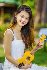 DSC06899 (inkid) Tags: portrait people woman girl female model women pretty dof ukulele bokeh guitar f14 sony 85mm sigma indoor sin instrument string a900 hsm  syrill