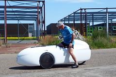 Der erste Einstiegsversuch (albularider) Tags: df dieter velomobil intercitybike