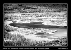 Closeup of 1st Vermillion Lake from the Mt. Norquay viewpoint, Banff National Park, Alberta (kgogrady) Tags: morning trees blackandwhite bw canada water landscape rockies blackwhite spring nikon rocky noone ab nopeople alberta infrared banff rockymountains nikkor dx banffnationalpark parkscanada canadianrockies vermillionlakes 2016 westerncanada canadianmountains d80 canadianlakes canadiannationalparks canadianlandscapes cans2s albertalakes albertalandscapes nikonafs18200mmgvr canadianrockieslanscape