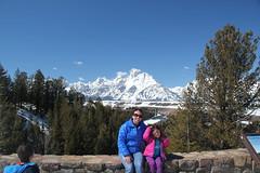 Mommy and Jovie posing (Aggiewelshes) Tags: travel winter snow lisa april wyoming jacksonhole jovie grandtetonnationalpark 2016 gtnp snakeriveroverlook
