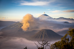 Bromo, Batur, Semeru (Nick Wells Photography) Tags: travel indonesia volcano wanderlust traveling sillhouette bromo travelphotography ijen