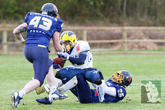 "GFL2 Hildesheim Invaders vs. Assindia Cardinals (Testspiel) 24.04.2015 038.jpg • <a style=""font-size:0.8em;"" href=""http://www.flickr.com/photos/64442770@N03/26674256715/"" target=""_blank"">View on Flickr</a>"