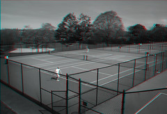 White Plains, New York (DDDavid Hazan) Tags: blackandwhite bw ny newyork sports outdoors stereophotography 3d anaglyph tennis whiteplains tenniscourt stereo3d redcyan redcyan3d bwanaglyph 3dstereophotography 3danglyph