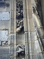 Holy snail! (kimbar/Thanks for 2.5 million views!) Tags: france church snail carving portal entry moretsurloing