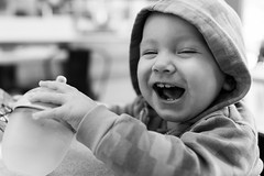 Great joke, Dad! (J.Feist) Tags: baby childhood laughing hoodie hilarious infant child laugh haha chuckle