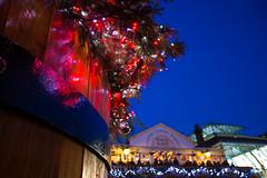 Covent Garden at Christmas (ncs1984) Tags: christmas xmas uk blue light england sky tree london night canon evening twilight europe dusk decoration christmastree christmaslights christmasdecorations hour yule coventgarden christmasdecoration bluehour canon6d