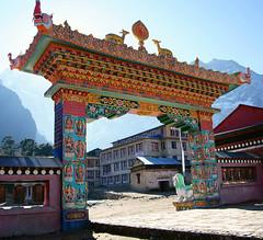 Tengboche Monastery Entrance (dcoorey) Tags: monastery tengboche