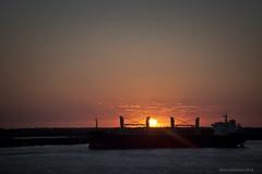 Sunrise @ San Lorenzo, Argentina (Rhannel Alaba) Tags: sunset argentina sunrise nikon san ship terminal campana lorenzo d90 pido alaba odfjell rhannel