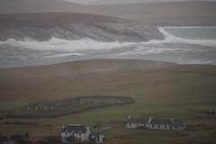 Spray Coming Over (DSC_6822) (AngusInShetland) Tags: scotland gale spray shetland mousa sandwick galeforce levenwick