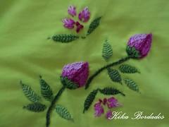 KikaBordados Kika  Krauss 066 (Kika Bordados by Angelica Krauss) Tags: pink flowers flores handmade embroidery laranja crochet tshirt amarelo bordados manualidades croche embroider feitomo camisetabordada camisetabordadamo bordadosfeitomo kikabordadoskikakrauss