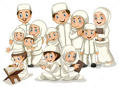 Muslim Family (People) (hypesol) Tags: family white kids children religious reading kid child adult uncle muslim islam traditional father religion cartoon daughter mother picture culture son read whitebackground aunt tradition onwhite isolated islamic grownup familymember
