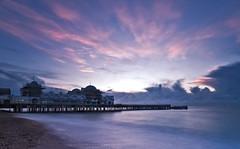 The Old Pier (Langstone Joe) Tags: longexposure seascape sunrise pier hampshire solent derelict southsea southparadepier pleasurepier