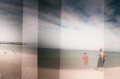 (Anita Allende) Tags: 35mm mar playa hermanos clearwater eeuu dobleexposicion dianamini