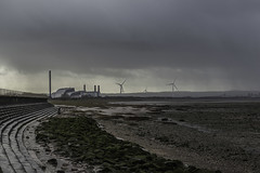 Day at the Beach (james.torbett) Tags: sky cloud beach river industrial stormy severn
