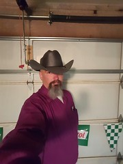 National Hat Day (cjacobs53) Tags: hat goatee cowboy purple cj jacobs clarence 5oclocksomewhere jacobsusa