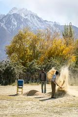 Farmers in Tashkurgan (inchiki tour) Tags: travel people mountains highway village snapshot uighur xinjiang silkroad karakoram kkh farmer  uyghur traveling tajik centralasia  pamir   2015 tashkurgan  taxkorgan karakoramhighway tashkorgan