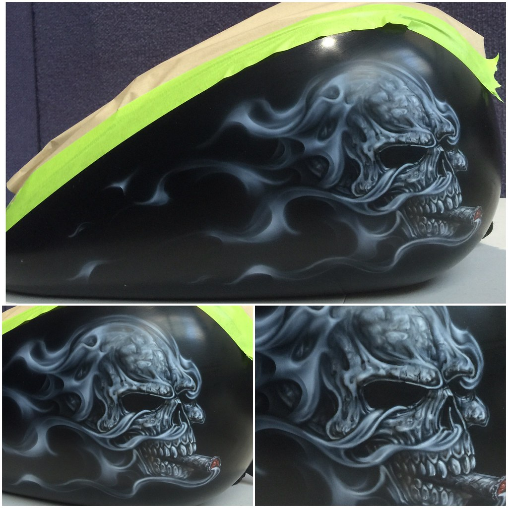 The world 39 s best photos of airbrush and skulls flickr for Airbrush mural painting