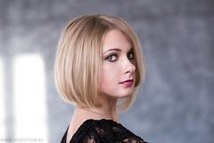 (vika mitrohina) Tags: portrait woman girl eyes blond blonde lipstick wedfotosib