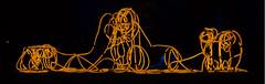 Bandwurm (christophhornung142) Tags: red green rot colors yellow night licht neon purple nacht kunst sony illumination gelb blau farbe bume mannheim violett plastik luisenpark wurm langebelichtung strucher winterlichter sonyalpha6000 stimmunglichtknstler