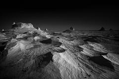 White desert, Egypt (pas le matin) Tags: africa travel sahara night canon dark stars landscape sand sandstone rocks nightshot desert egypt 7d moonlight tones whitedesert canoneos7d