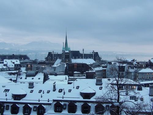 Promenade dans le belle Lausanne enneigée