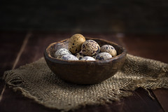 Quail eggs (Arx0nt.) Tags: life light shadow food brown still healthy key natural many object low country rustic egg bowl eat diet quail