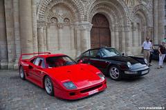 Prmices Sport & Collection 2011 - Ferrari F40 (Deux-Chevrons.com) Tags: auto france car sport automobile automotive ferrari voiture collection exotic coche supercar exotics poitiers f40 sportcar 2011 notredamelagrande ferrarif40 hypercar sportcollection
