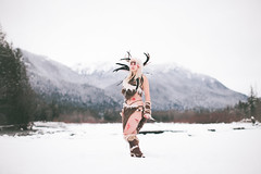 Skyrim Forsworn Cosplay (Sara Dilley) Tags: winter snow nature canon cosplay naturallight mount fantasy rainier blonde vsco skyrim canon5dmarkii