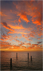 Coogee sunset (beninfreo) Tags: sunset orange cloud reflection jetty indianocean dramatic perth fremantle westernaustralia coogee