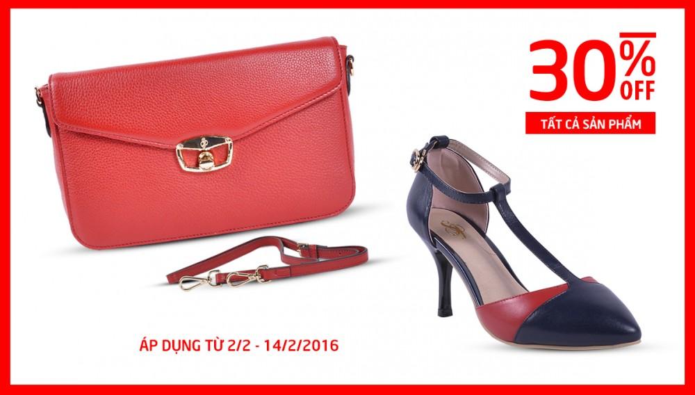 Happy Valentines - Sp Shoes & Handbag Giảm 30% Tất Cả Sản Phẩm