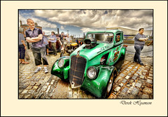 CLASSIC AT THE DOCK (Derek Hyamson) Tags: classic cars candid transport hdr albertdock fibreglass