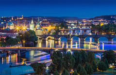 _MG_4535_web - Prague skyline with the Vltava bridges (AlexDROP) Tags: city travel urban colour skyline architecture night czech prague postcard famous praha panoramic best bluehour scape picturesque iconic bohemia hdr mustsee 2015 canon6d ef241054lis