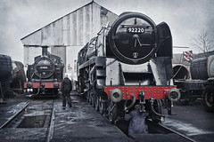 The Steam Shed (Dave&Bev) Tags: railroad heritage train vintage shed engine railway steam dirt depot oily locomotive grime loughborough greatcentral jinty 9f